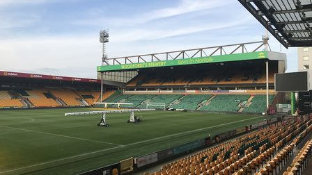 The Barclay end at Carrow Road where the stage will be Picture: Lauren De Boise.