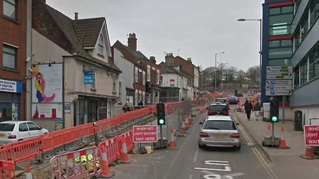 A taxi driver was robbed of £20 on Rose Lane in Norwich, a court heard Photo: Google Streetview
