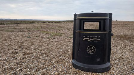 A Peterborough City Coincil bin has been found at Blakeney Point: Picture: Norfolk Coast National Tr