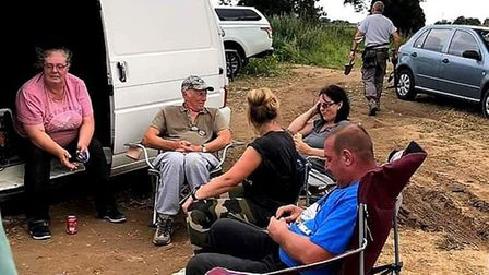Cheryl and Adrian Dawes are part of a metal detecting group which meet every weekend. Picture: Chery