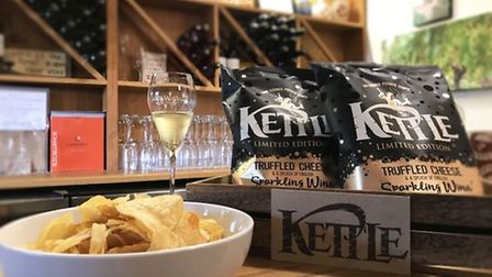 The new flavour of Kettle Chips which Jamie Laing promotes on Instagram. Pic: Archant