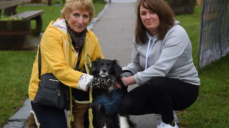 Rita Potter, left, who started the group when her dog Daisy was stolen, and Emma Downes, who organis