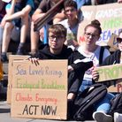 Action from the third Youth Strike 4 Climate protest outside City Hall, Norwich. Picture: Jamie Hone