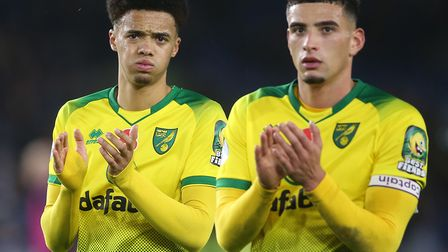 Young defenders Jamal Lewis, left, and Ben Godfrey found it difficult against Watford Picture: Paul