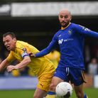 Chris Henderson clinched the win at Southport - and a return to the top of the table Picture: Ian Bu