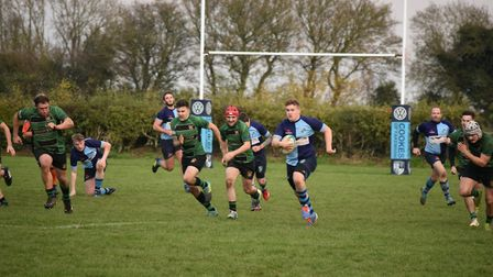 Action from Fakenham's home game against Beccles Picture: Rob King