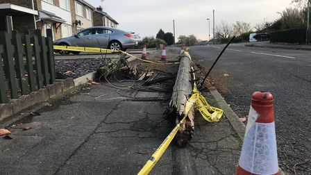 An Audi A4 knocked down a telegraph pole, wrote off a Nissan Duke and a garden fence in a hit and r