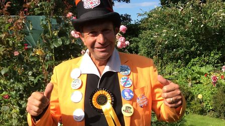 Ashley Inwood under the name of Earl Elvis of Outwell is the Monster Raving Looney Party candidate f
