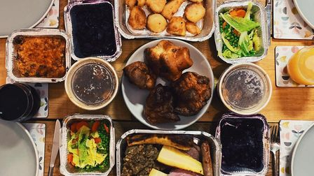 Roast dinner delivery from OffSeasons Norwich with all the trimmings Credit: James Randle