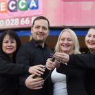 Mecca Bingo manager Janette McCracken, second right, and her team, from left, Alison Baker, Lee Ches