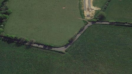 Part of the route suggested by Norfolk County Council, between Little Melton and Hethersett Academy.