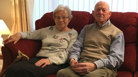 Dereham grandmother Betty Battelley, pictured with her husband Barry, is one of 131 patients whose s