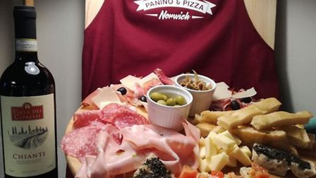 Saporita in Norwich serves pizza by the slice, charcuterie, foccaccia and paninis Credit: Veronica I