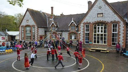 St Michael's CofE VA Primary and Nursery School in Aylsham, during its blessing by the Bishop of Nor