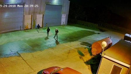 CCTV from a Necton farm in September 2018. Photo: Norfolk police
