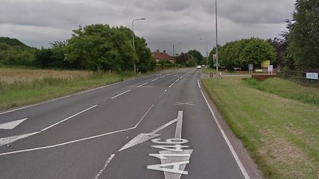 A burst water main is causing delays to busses travelling along the A146. Picture: Google Maps