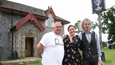 Owner Ivor Braka, right, with chef Stuart Tattersall, and general manager, Simone Tattersall, at the