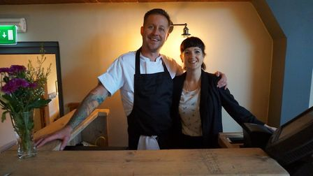 Ben and Sarah Handley of The Duck Inn, Stanhoe. Credit: Contributed