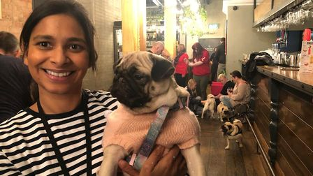 Anushka Fernando, event organiser of the pop-up Pug and Frenchie Cafe which came to Norwich on Sunda