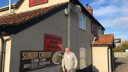 Landlord Mark Fryer at The Millwrights Arms pub in Toftwood, which will be a polling station at Dece
