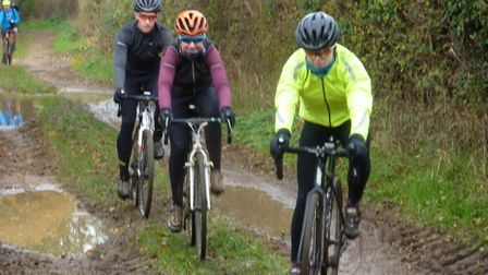 Negotiating the puddles was all part of the fun at the Ruff-Stuff 25. Picture: Fergus Muir