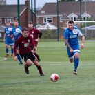 Action from the Kirkley & Pakefield B v AFC Oulton match.