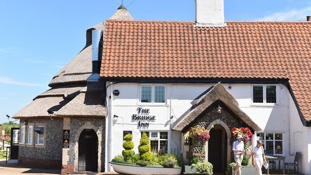 Acle Bridge Inn, Acle Bridge.The front entrance.Pub of the week.Picture: James Bass