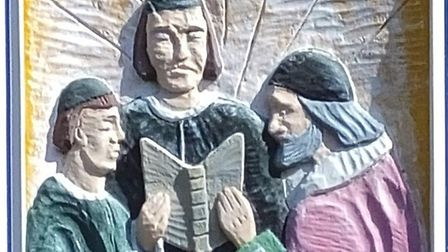 A detail of a panel from the Diss town sign. Picture: Dr Andrew Tullett