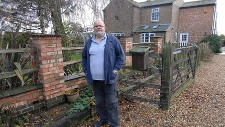 Nigel Smith outside Strawberry House, his home off the March Riverside at Upwell, which has had no w