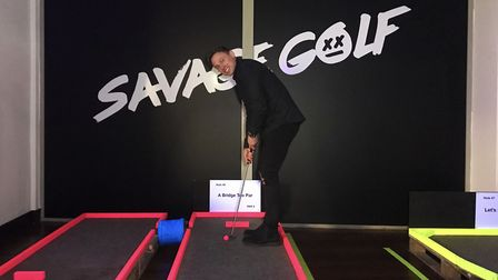 Rory Daines and two of his best mates have opened the pop-up golf and cocktail bar Savage Golf. Pict