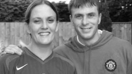 James Greene with his sister Faye. His family have issued a statement following the conviction of Pe