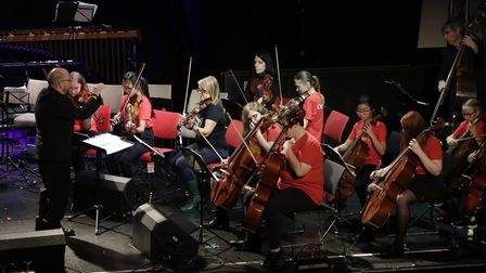 The Sistema orchestra in Norwich performing with The Vagaband. Picture: Sistema Norwich
