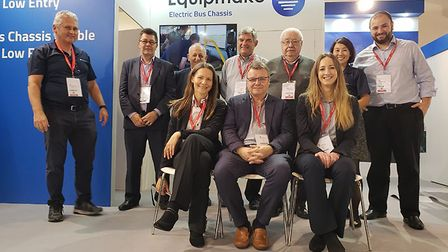 Following a successful showing at bus expo Busworld Europe, the Equipmake team has attracted global