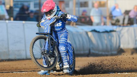 Lewis Kerr flies out of the gate at the Adrian Flux Arena Picture: Ian Burt