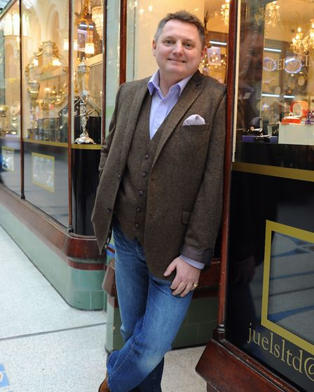 James Hawkins at his shop Juels' Limited in the Royal Arcade. Picture: DENISE BRADLEY