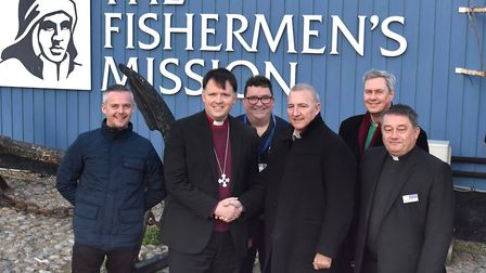 A visit by Bishop Graham Usher to the Lothingland Deanery. At the Fishermen's Mission. Pictures: Mic