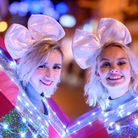 Scenes from the King's Lynn Christmas Lights Switch on 2019 - Street entertainers.