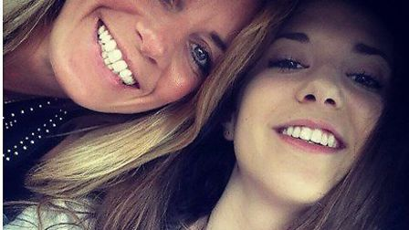 Mia Titheridge (right) who died while a patient at the now closed Huntercombe Hospital in Buxton Mar