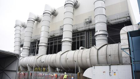 The air cooled condenser at the King's Lynn Power Station. Picture: DENISE BRADLEY