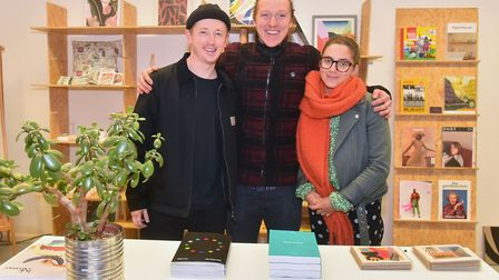 Good Shop Norwich stocking locally made goods has opened in the Norwich Lanes. L-R Sam Harrons, Josh