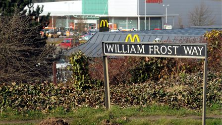 William Frost Way in Costessey which runs past the Longwater Retail Park. Photo: Bill Smith
