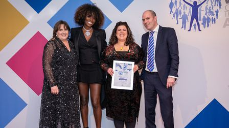 Jessica Jones (second from right) with (L-R) Denise Radley, corporate director for health, adults an