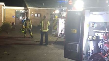 Firefighters from Lowestoft were called out to tackle the small electrical fire at The Ashley School
