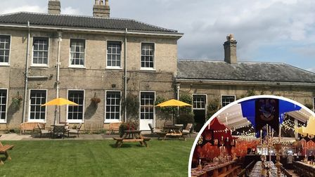 The Boudicca Hotel has entered into a legal dispute with the Norfolk Christmas Party company (inset)