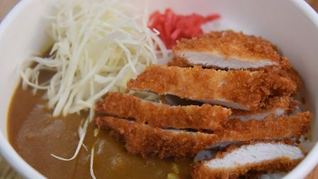 Chicken Katsu curry at Bun Box, Japanese street food, which has extended their stall at Norwich Mark