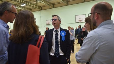 Conservative candidate for North West Norfolk James Wild. His nomination papers were signed by 20 re