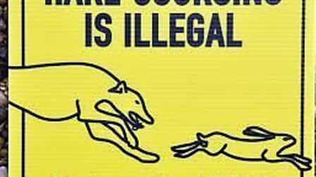 A sign warning against hare coursing. Picture: Norfolk Constabulary