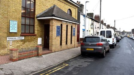 """Tonning Street in Lowestoft, where two police officers were """"seriously assaulted"""". Pictures: Mick Ho"""