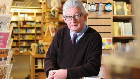 David Makinson, who is closing the Holt Bookshop. Pic: Archant