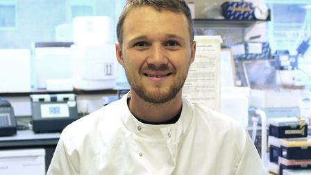 Joshua Joyce, a plant researcher at Norwich's John Innes Centre, represented the UK at the Bayer You